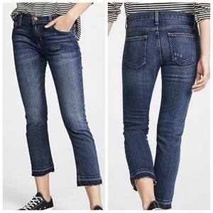 Current Elliott The Cropped Straight Leg Jeans 26
